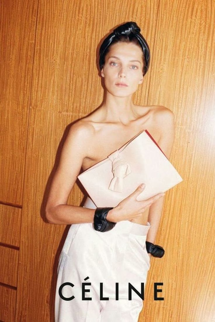 Daria Werbowy photographed by Juergen Teller for Céline.