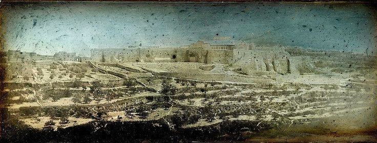 This is one of the first pictures ever taken from Jerusalem. The photo comes from 1844 and is one of about 900 that were taken by French photographer Joseph-Philibert Girault de Prangey. According to Retronaut, they weren't discovered until the 1920s, in a store room on Girault's estate. (Published in Smithsonian Magazine).