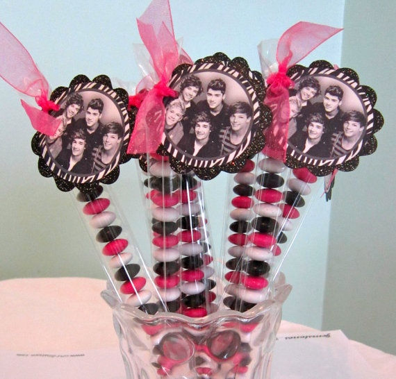 One Direction birthday Party Favor black white zebra by POPSnMORE, $16.00