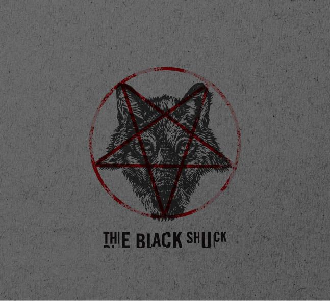 The Black Shuck Craft Beer. Brand Mark. Typography. Word mark. Demon. Pentagram. Designed by White is Black.