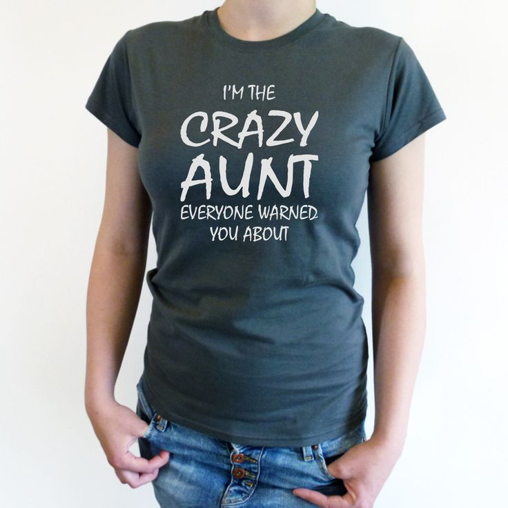 CRAZY AUNT SHIRT. Aunt Mothers Day. Funny Aunt Shirt. New aunt Shirt. Best Aunt ever. Gift for aunt. New aunt Shirt for aunt. Cooler aunt by Crafteri on Etsy