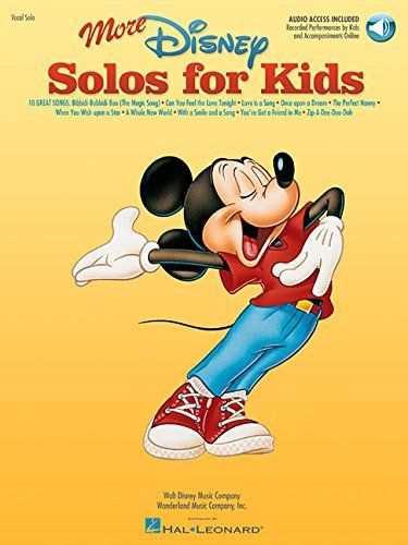 More Disney Solos for Kids (Vocal Collection) with online audio @ niftywarehouse.com #NiftyWarehouse #Disney #DisneyMovies #Animated #Film #DisneyFilms #DisneyCartoons #Kids #Cartoons
