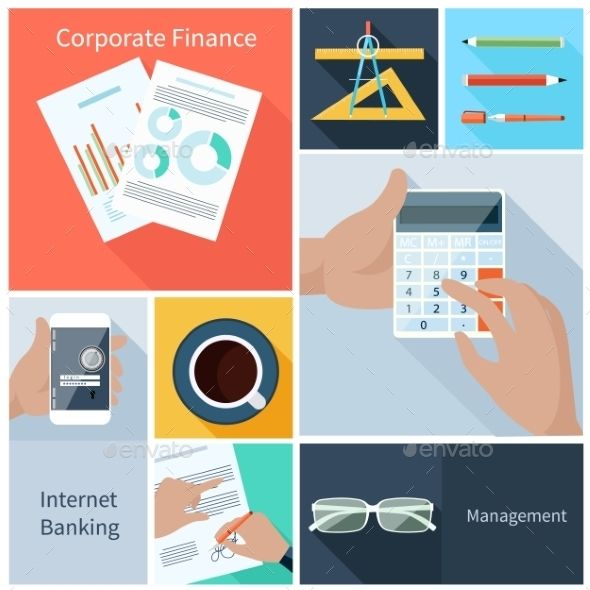 Finance, Web Banking, Management Concept