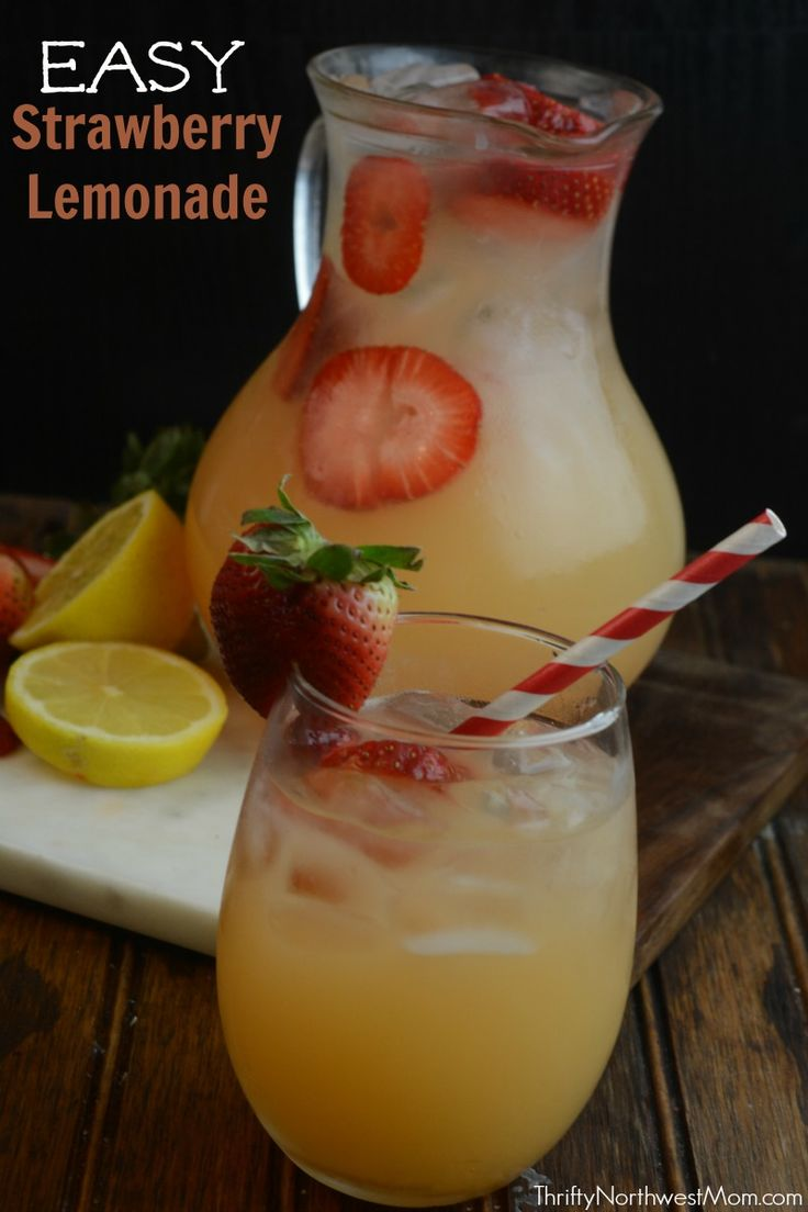 17 best images about drinks on pinterest strawberry for Fun easy party drinks
