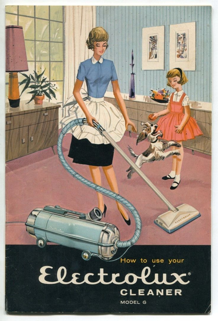 1964 Vintage Owners Manual Electrolux Vacuum Cleaner