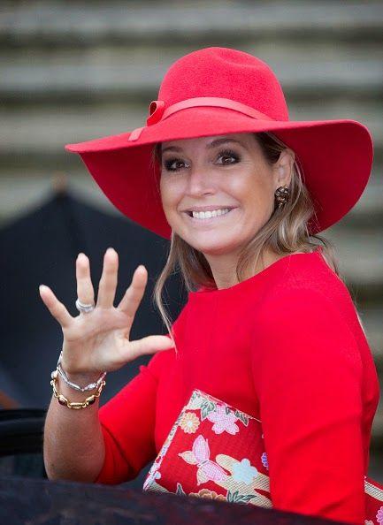 Queen Máxima, October 14, 2013 in Fabienne Delvigne | The Royal Hats Blog