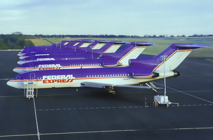 Line them up! Here are some B727 aircraft from the FedEx