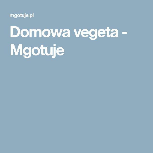 Domowa vegeta - Mgotuje
