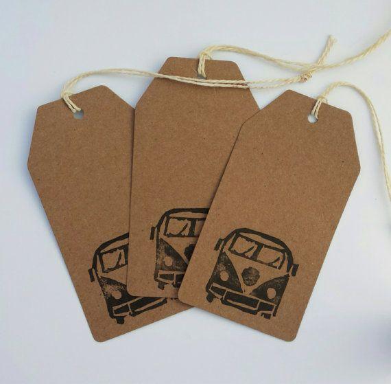 Volkswagen Campervan Gift Tags Volkswagen Stamp by LoveAnniee, £3.00