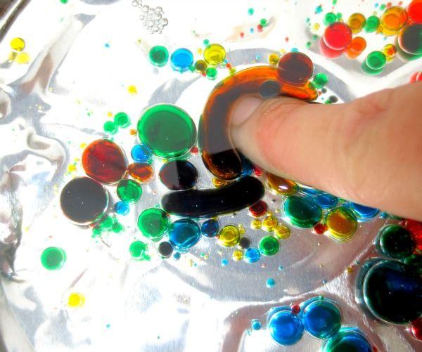 agua aceite y color