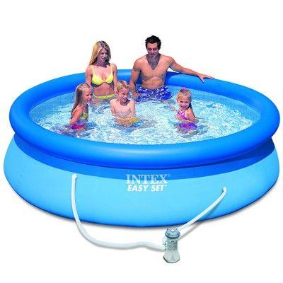La <b>piscine autoportante Easy Set</b> de la marque Intex se monte en un clin d'oeil : <b>10 minutes* suffisent ! </b> <br>- Choisir un emplacement plat, au soleil, à l'abris des courants d'air, à distance des arbres, proche d'un point d'eau et d'une pri