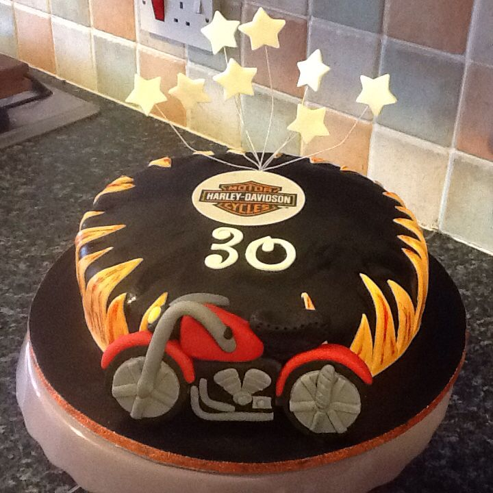 Andy's 30th Harley Davidson cake