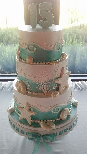 Kraken Wedding Cake Colors