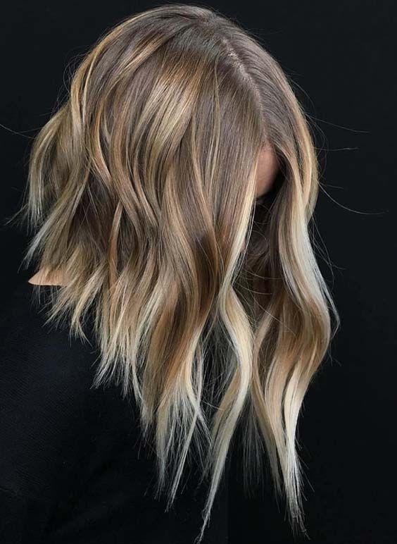 36 Gorgeous Undone Textured Lob Haircuts 2018 Hair Pinterest