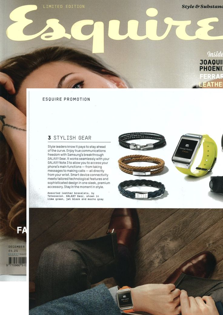 @Esquire Magazine December 2013 Tateossian #bracelets http://www.tateossian.com/category/1075/bracelets.html