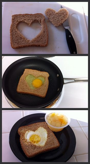 Heart toast great for your valentine's breakfast