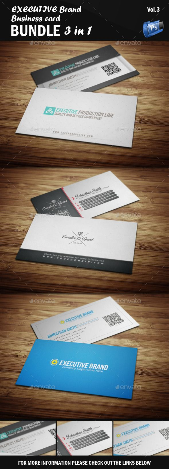 Executive Business Card - Bundle 3 in 1 [Vol.3]