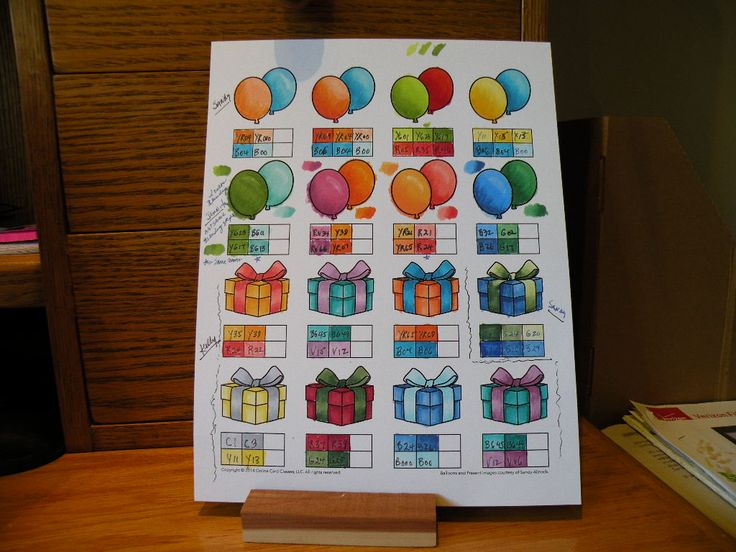 Online Card Class - Copic Markers for Card Makers - Blending practice sheets 1