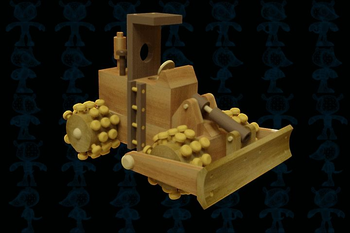 Roadbed Compactor Wooden Toy - STEP / IGES,SOLIDWORKS,AutoCAD,Parasolid - 3D CAD model - GrabCAD