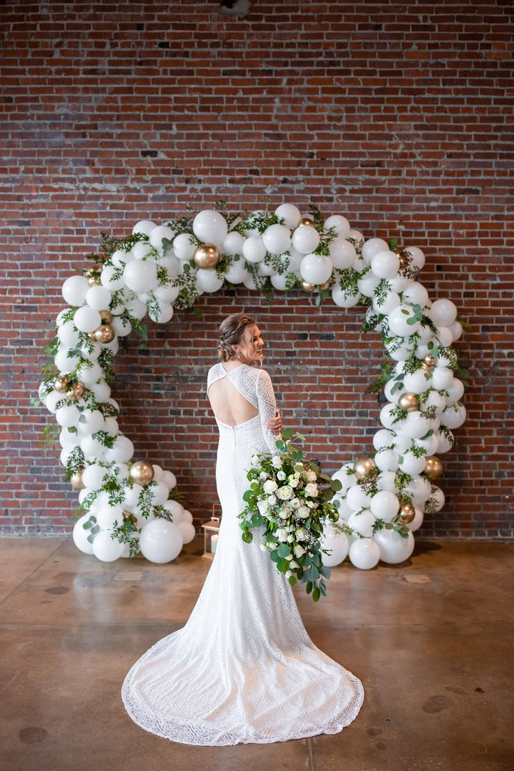 Wedding Balloon Arch Warehouse Wedding Inspiration