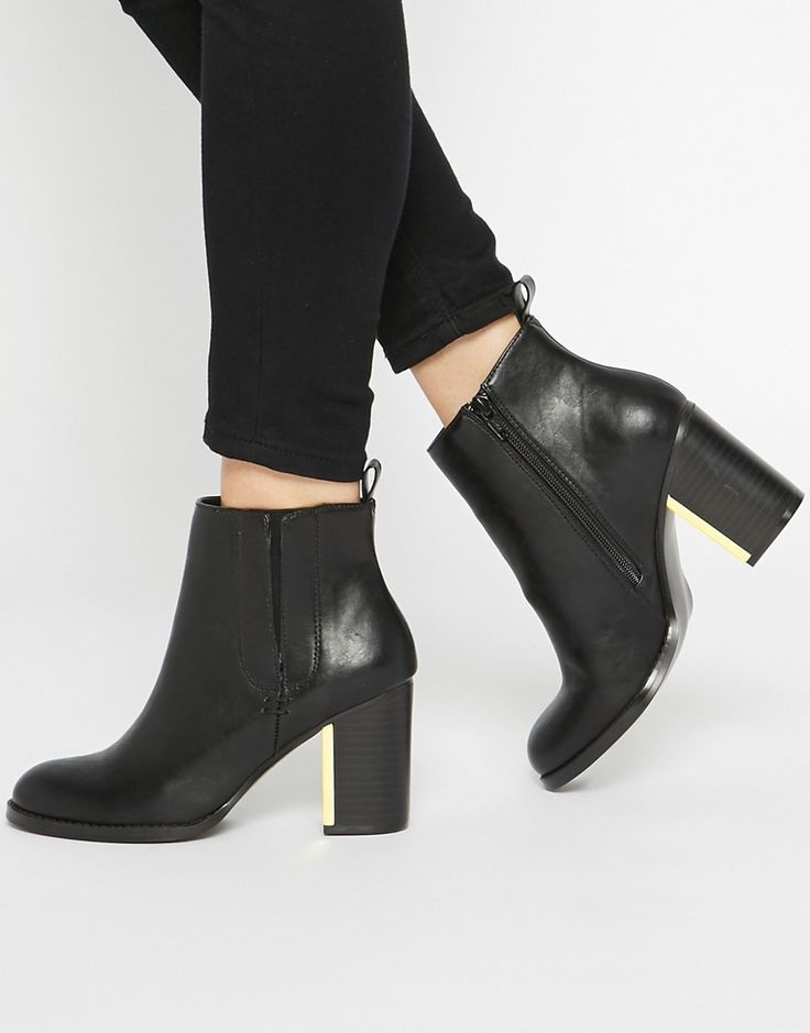 ASOS+EVERMORE+Metal+Detail+Ankle+Boots
