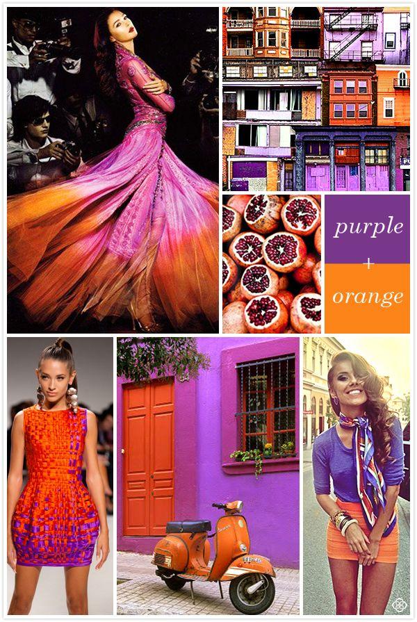 Color Crush: Purple + Orange