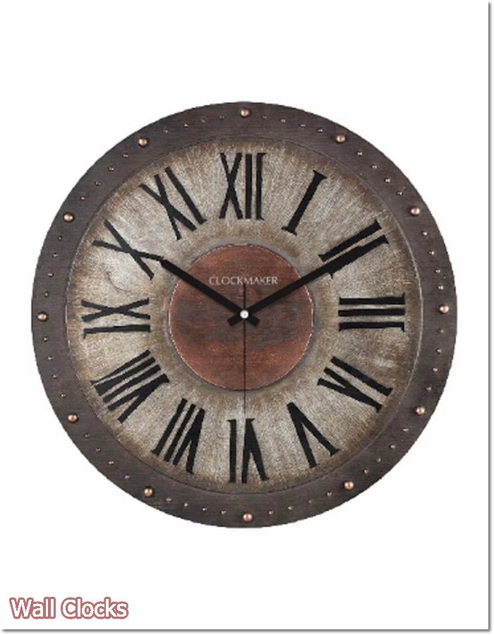 VINTAGE INSPIRED ANTIQUED FRAME KEY WALL CLOCK BATTERY OP READY TO HANG-2 DESIGN