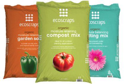 Ecoscraps organic vegan compost garden soil potting mix for Organic compost soil