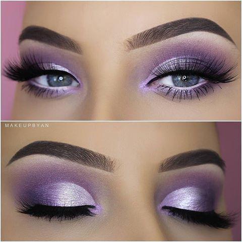 Este olhar atraente por @makeupbyan é perfeito para a mola!  Loja a multidão de roxos que ela usou através do link na bio!  Hopscotch, Wisteria, Phantom, Daydreamer, Hype, Pillow Talk e Motown