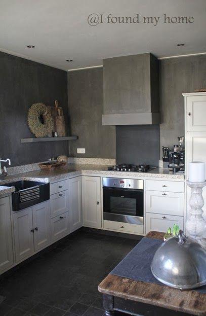 Witte Keuken Donkere Muur : Muur kleuren, Kleur and Inspiratie on Pinterest