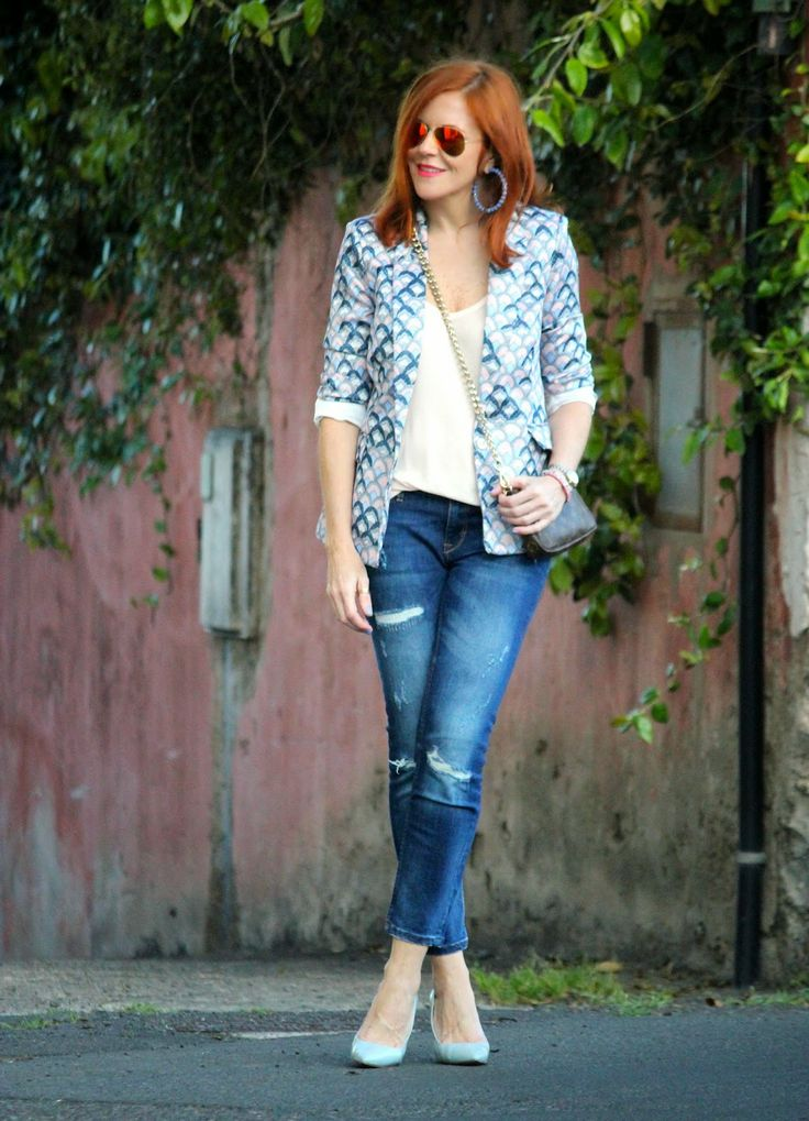 So cute by Guccisima: Blue and pink blazer