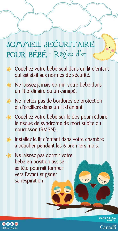 Apprenez comment créer un environnement de sommeil sécuritaire pour votre bébé : http://canadiensensante.gc.ca/healthy-living-vie-saine/sleep-sommeil/tips-conseil-fra.php?utm_source=pinterest_hcdns&utm_medium=social_fr&utm_content=mar28_safesleep9&utm_campaign=social_media_14