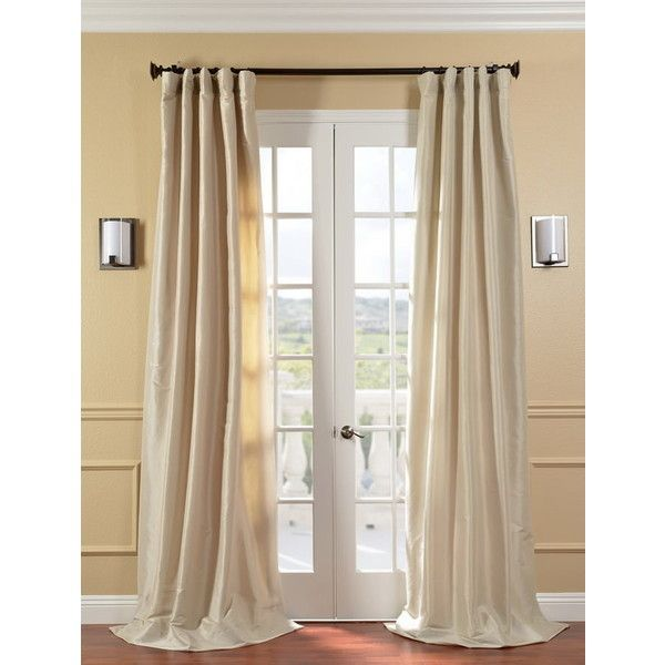 Antique Beige Faux Silk Taffeta Curtain ($89) ❤ Liked On Polyvore Featuring  Home,