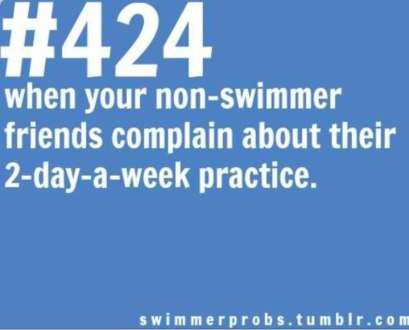 Swim Problems... so not cool... like that moment when people ask if swimming is a sport...