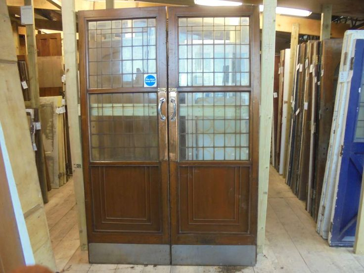 Reclaimed Selfridges Half Glazed Doors supplied by Authentic Reclamation 01580201258. Sussex Reclamation yard selling large stocks of reclaimed doors.