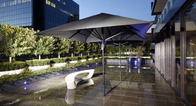 Bistro Outdoor Market Umbrella - Black