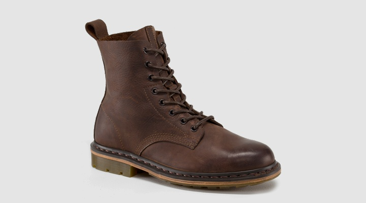 Dr Martens NERO BROWN RE-BURNISHED WYOMING - Doc Martens Boots and Shoes