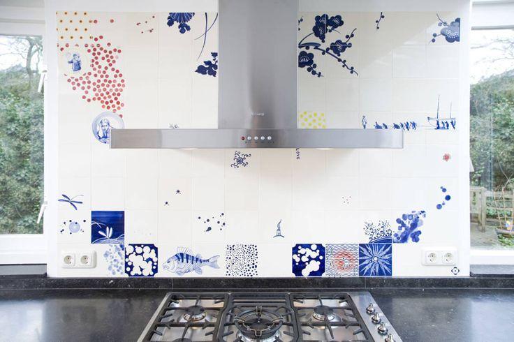 blue red and yellow : Eclectische keukens van José den Hartog