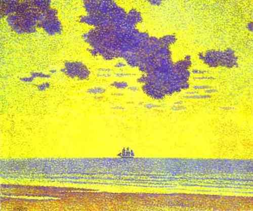 'Heavy Clouds, Christiania Fjord' 1893 - by Theo Van Rysselberghe
