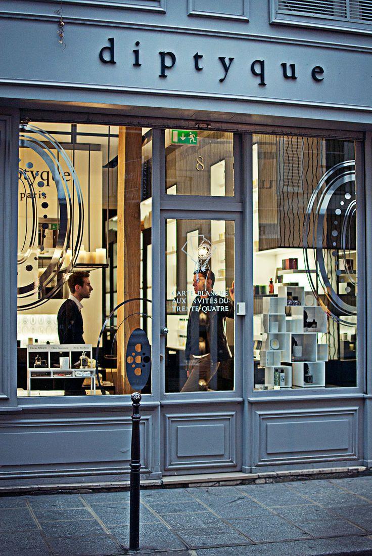 Very good fragrance store. Diptyque, 34 bd Saint Germain, Paris 6e