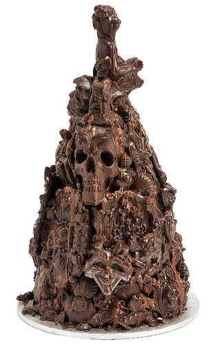 Choccywoccydoodah Gothic cake - anyone fancy taking something like this on?