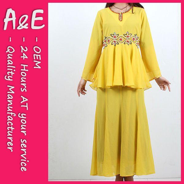 baju kurung peplum  1,MOQ :200pcs for 1design  2,Customized Material  3,Fast Massproduction  4,Superb sewing and artwork