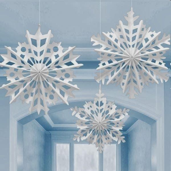 Mam e moderna festa infantil frozen id ias festa for 3d hanging snowflake decoration
