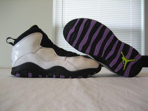 womens air jordan retro 10 black purple