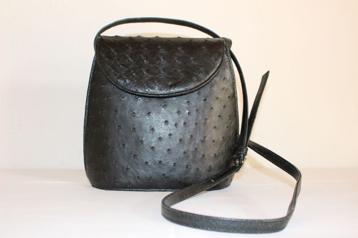 Luca Noble Stone, Genuine African Ostrich Leather Handbag.
