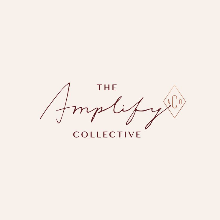The Amplify Collective branding and web design by Little Trailer Studio.