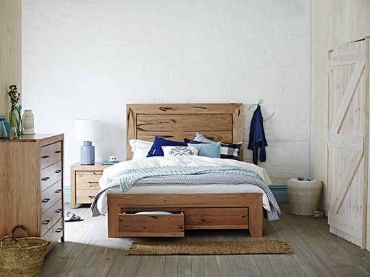 Havana Bed Frame with 2 drawer base: Queen Storage Bed