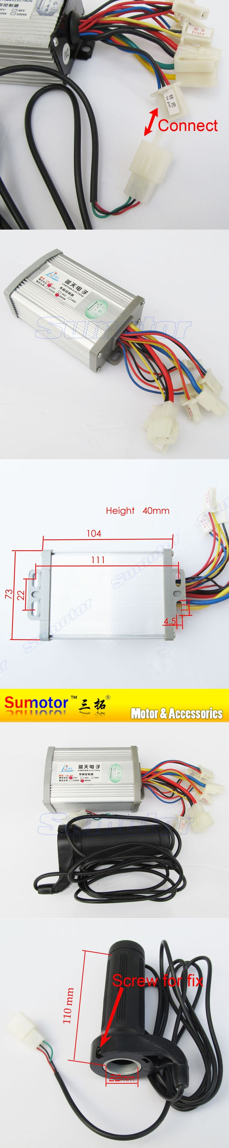 24V 800W brush speed controller with Handle, for motor electric bicycle, electric bike controller, e-bike controller scooter