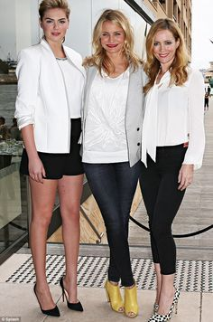 Kate Upton, left, Cameron Diaz, centre, and Leslie Mann, right,