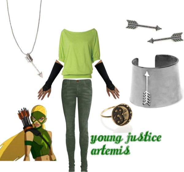 """young justice artemis"" by crazyprncss on Polyvore"